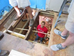 Removing_old_rotted_floor