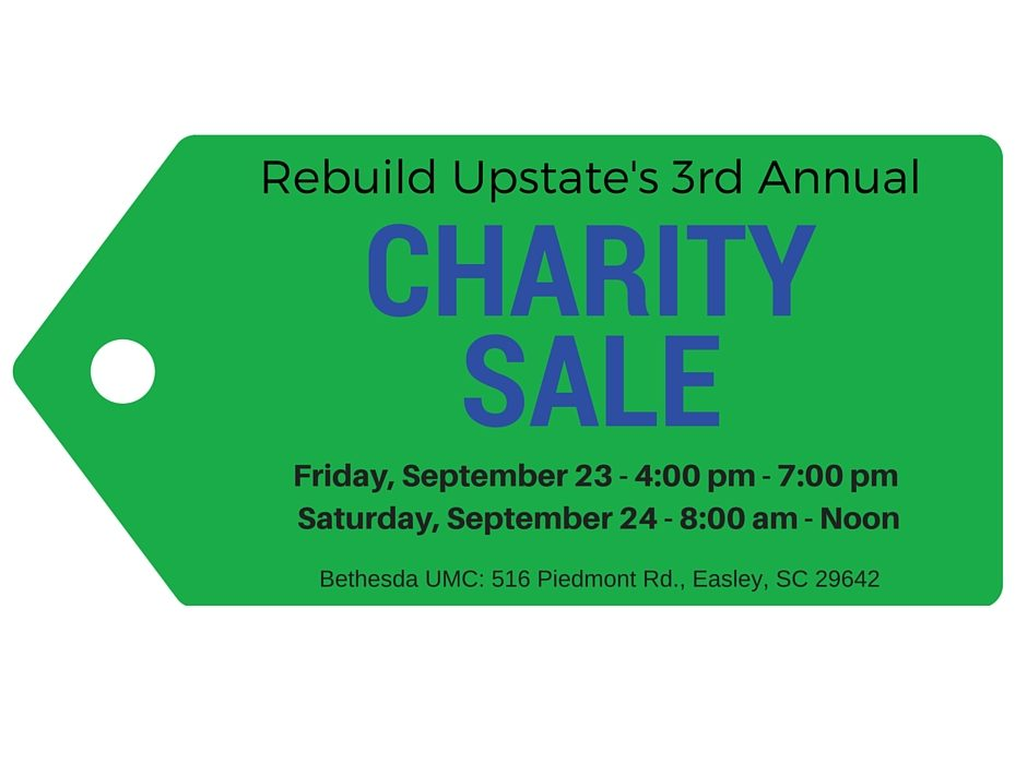 Get Ready for our Third Annual Charity Sale!