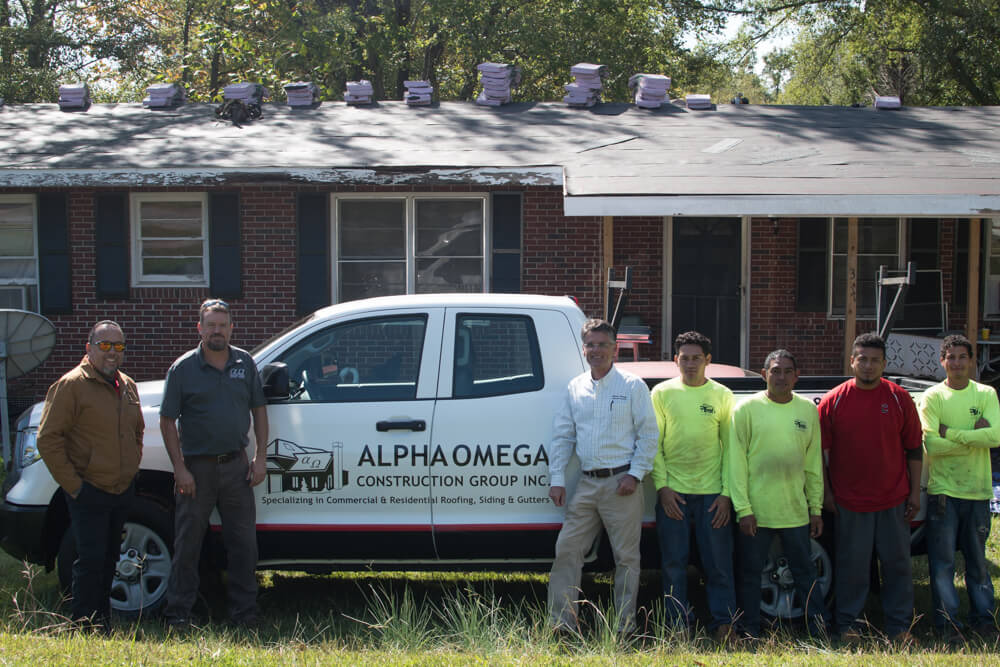 Alpha Omega and Owens Corning Sponsor New Roof in Pickens