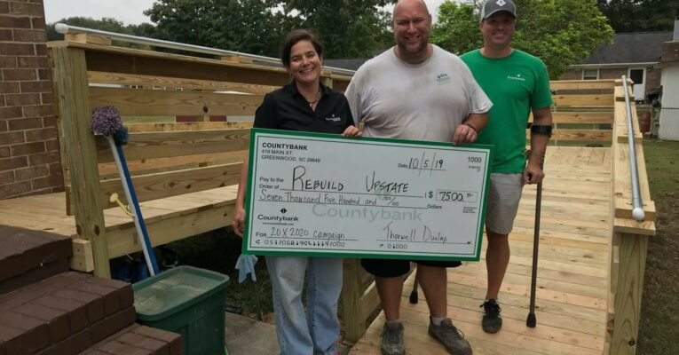 Rebuild Upstate received $7,500 from the Countybank Foundation