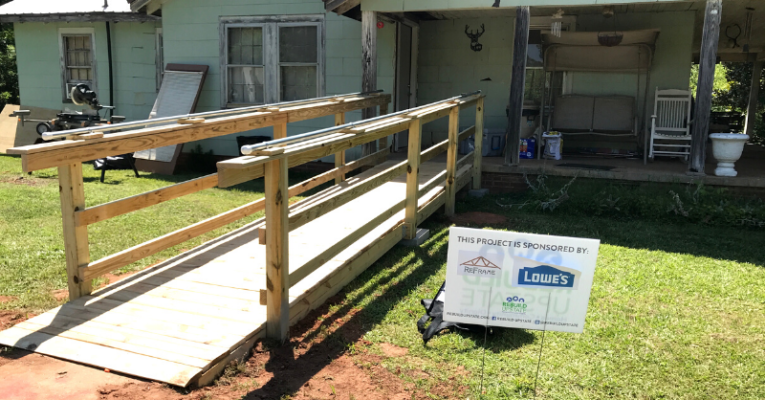 Lowe's and ReFrame make family home modifications possible